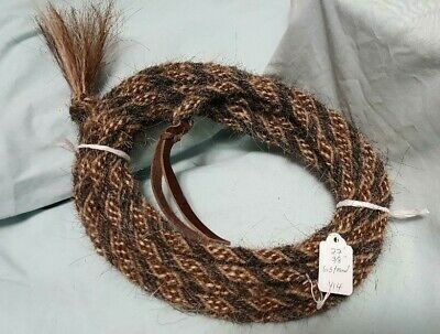 """Changing Colors Pattern V1 Mane Horse Hair Mecate 14 ft long  1//2/"""" dia"""