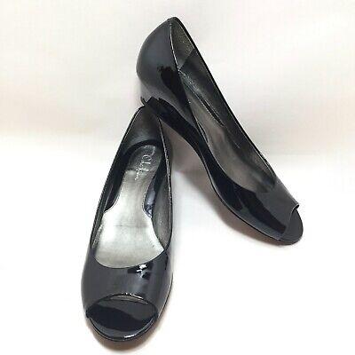 Cole Haan Nike Air black low heel pumps