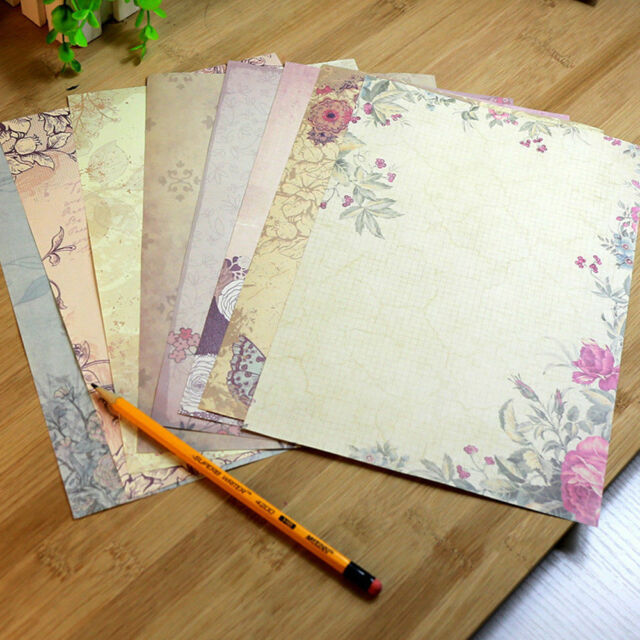 10pcsset vintage antique rose flower letter writing paper classic stationery