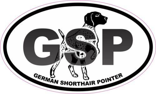 GSP German Shorthair Pointer Oval Vinyl Window Decal Sticker