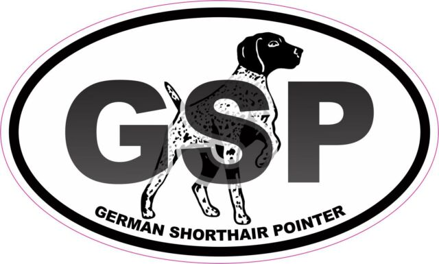 GSP Southern Point German Shorthaired Pointer Proper Vinyl Decal Sticker BROWN