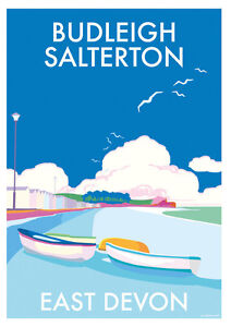 Burgh Island Devon Art Deco Railway Poster 1930s style Blank  Birthday Card