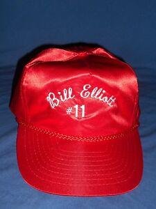 c9653c812 Details about RARE Bill Elliott NASCAR Racing Vintage 80's Nissin Nylon  Snapback Hat Trucker