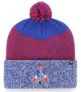 NEW-ENGLAND-PATRIOTS-NFL-STATIC-WINTER-039-47-KNIT-CUFFED-POM-BEANIE-CAP-HAT-NWT