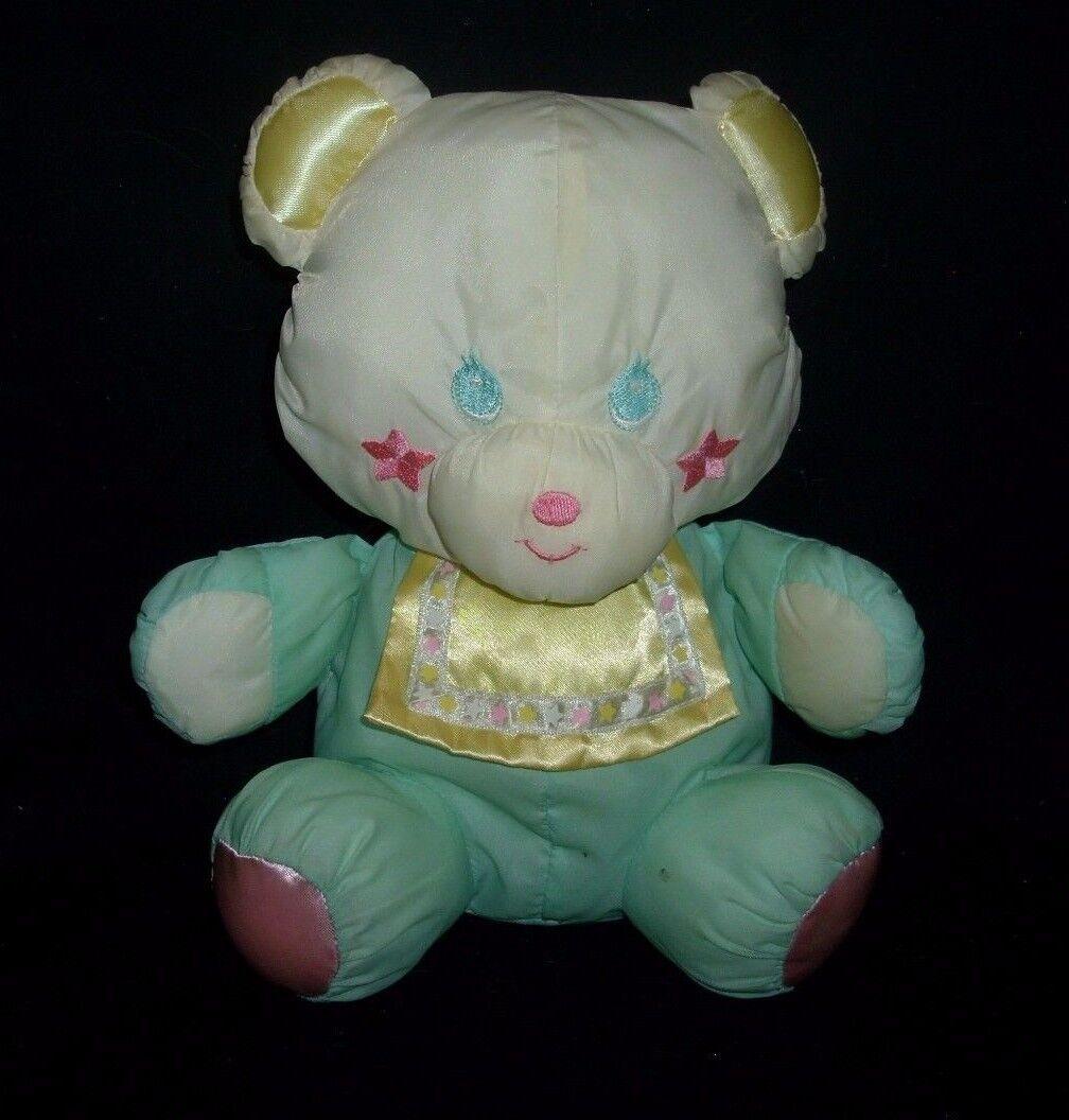 VINTAGE PLAYSKOOL SWEET BEGINNINGS TEDDY BEAR 11253 STUFFED ANIMAL PLUSH TOY