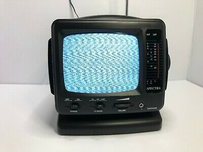 RARE - VINTAGE Spectra Portable TV Mini CRT Personal ...