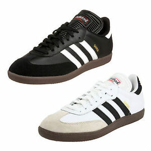 Adidas CLASSIC SAMBA Mens Leather Indoor Soccer Shoe : Black or White ALL SIZES