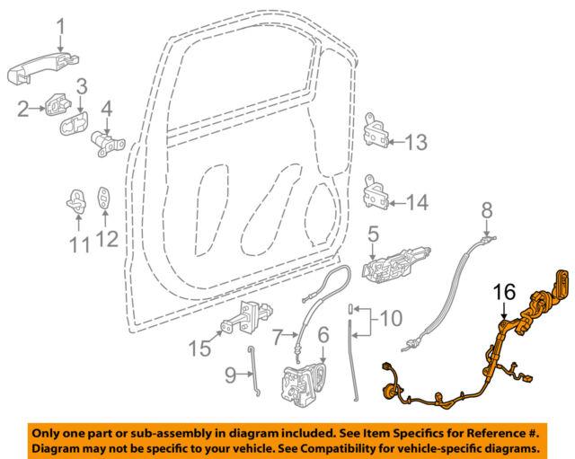 Genuine Gm Oem Rh Door Wiring Harness 23171551 1551rh For Sale Rhebay: Harness View Diagram Jeep Cj5 Wiring Ebay At Gmaili.net