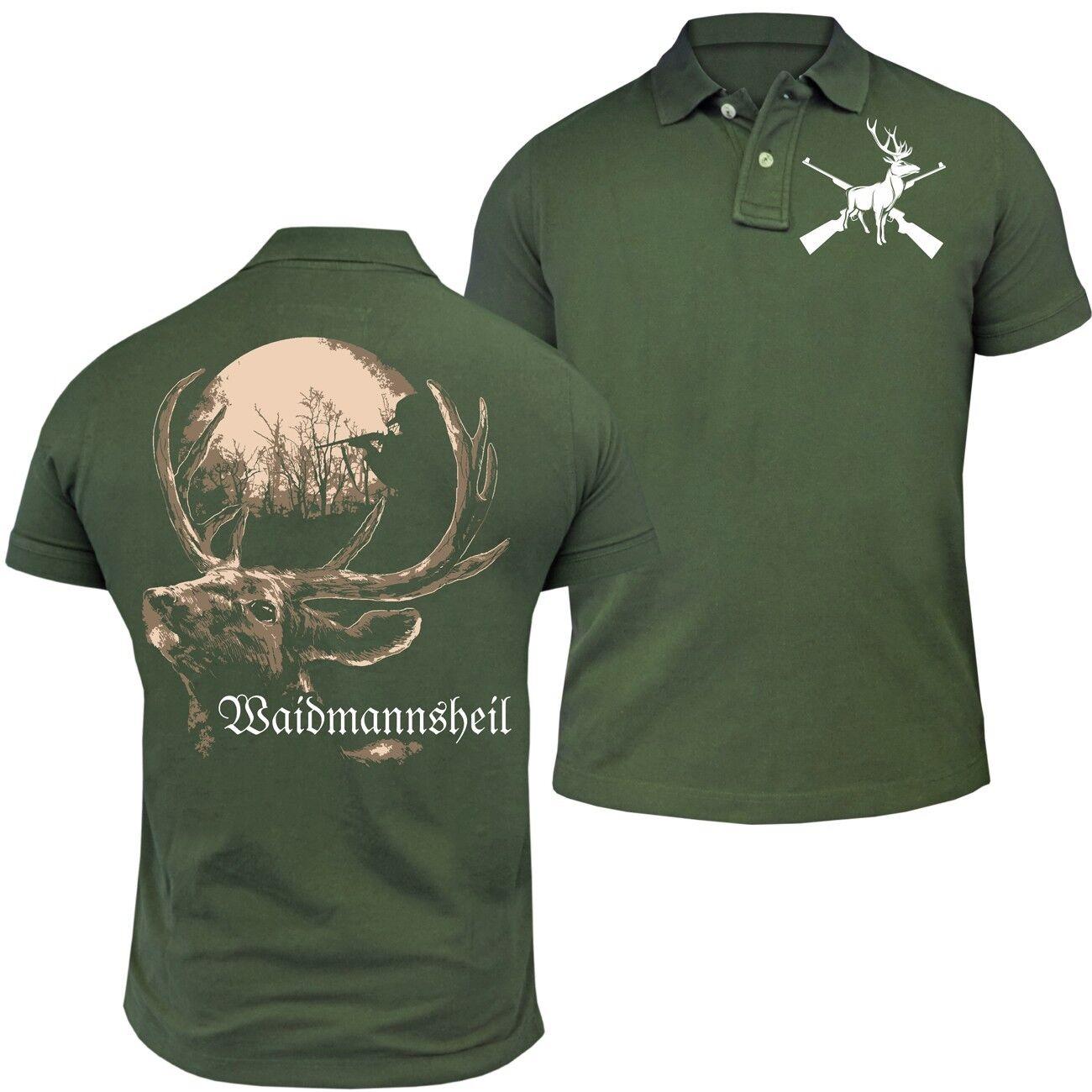 POLO Shirt Waidmannsheil Jäger Forst Förster Hirsch Halali Beruf Beruf Beruf Wild Tier Wald | Spielzeug mit kindlichen Herzen herstellen  0e42db