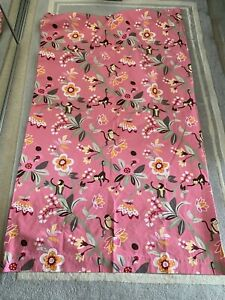 Pottery-Barn-kids-Emmy-pink-curtains-Floral-Jungle-Monkeys-50-x-84
