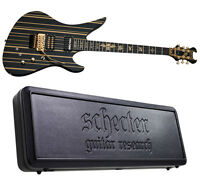 Schecter Synyster Gates Custom-s Limited Black W Gold + Sustainiac + Case