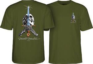 Powell-Peralta-SKULL-AND-SWORD-Skateboard-Shirt-MILITARY-GREEN-XL