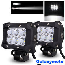"2x 4"" Cree White 6 LED 18w Flood Beam Adjustable Off Road Roof/Work Light bar"