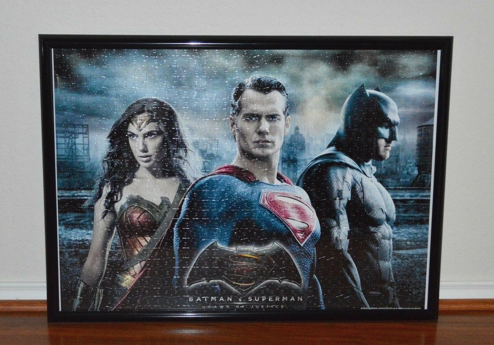 Batman V Superman Dawn of Justice 1,000 Pieces Puzzle Assembled With Frame New