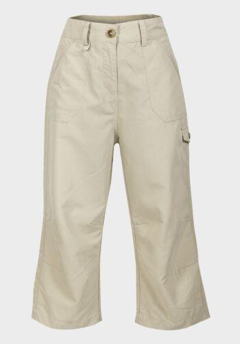 Pietra Cargo Cerniera con bottone e Tasche Corto Pantaloni Da Donna Beige