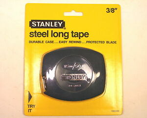 """NOS Stanley USA STEEL LONG TAPE MEASURE 3/8"""" X 15m-50' #34-383"""