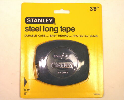NOS Stanley USA STEEL LONG TAPE MEASURE 3/8 X 15m-50' #34-383