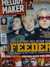 MELODY MAKER 13/12/00 - FEEDER - SMASHING PUMPKINS - MANSUN