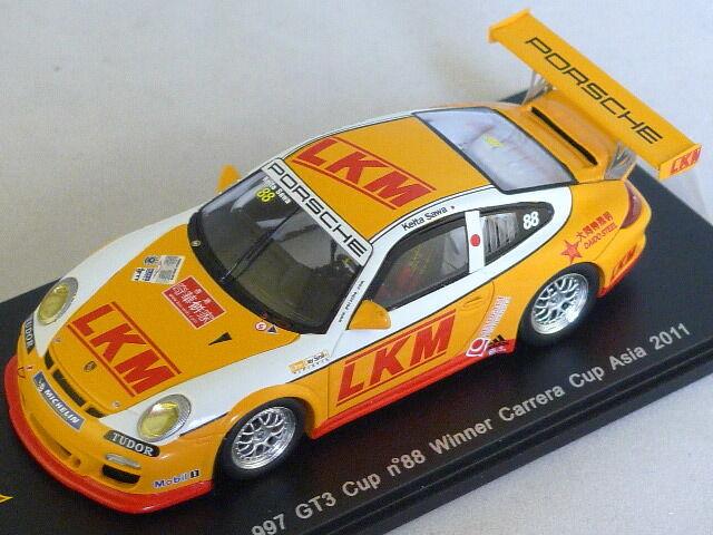 Spark SA013 - PORSCHE 997 GT3 Cup n  88 Vainqueur Carrera Cup Asia 2011 1/43