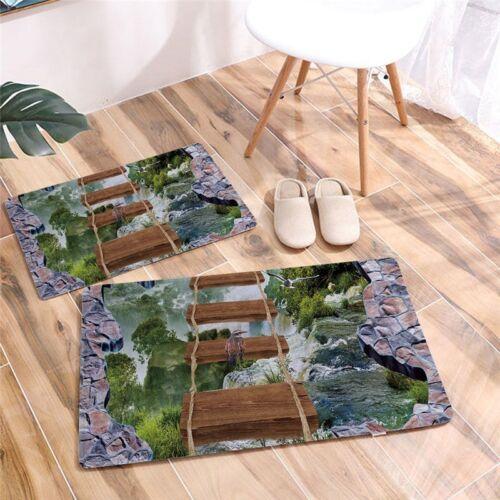 Entrance Doormats Door Mat 3D Animals Dolphin Trap Printed Carpet  Living Room