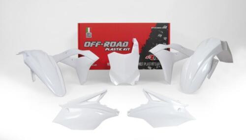 KAWASAKI KXF250 17-19 PLASTIC KIT WHITE RACETECH MOTOCROSS