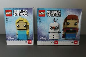 LEGO-BRICKHEADZ-LOT-41617-ELSA-41618-ANNA-amp-OLAF-NEW-RETIRED-DISNEY-FROZEN