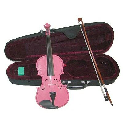 Efficient New 1/2 Size Hot Pink Violin & Bow,case~acoustic Student Beginner School Gift Musical Instruments & Gear String