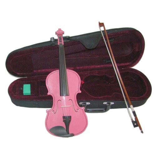 NEW 1//8 Size HOT PINK VIOLIN /& BOW,CASE~ACOUSTIC STUDENT BEGINNER SCHOOL GIFT