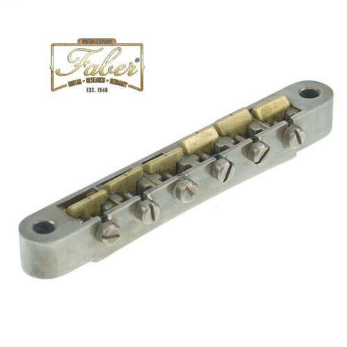 Nickel Aged Brass Saddles ABRM59BA fits Asian ABR Bridge Faber ABRM-59-BA