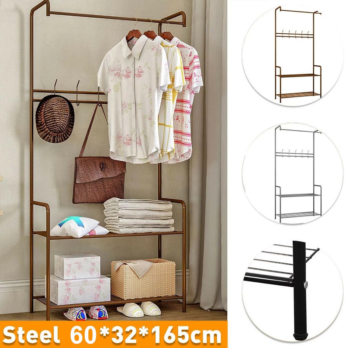 Coat Rack Free Standing Metal 11 Hooks Coat Tree Hallway//Entryway Coat Hanger Stand for Cloth,Hat,Umbrella Black