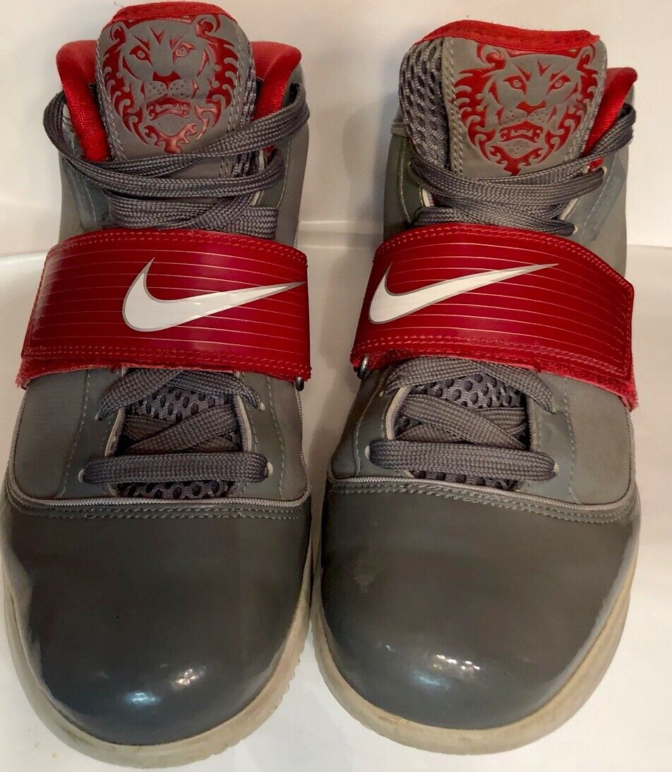 Nike Lebron Zoom Soldier Cool Grey Varsity Rojo Shoes Sneakers