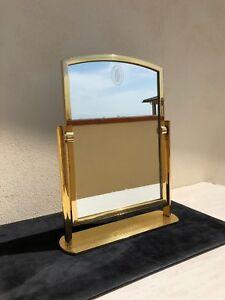 Specchio-ORIGINALE-Cartier-espositore-mirror-display-gadget-vintage-1970-Santos