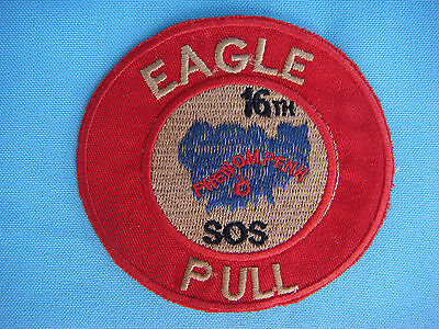 """VIETNAM WAR PATCH US 16th SPECIAL OPERATIONS SQUADRON """" EAGLE PULL """""""