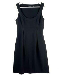 CUE Women's Size 8 Black Sleeveless Scoop Neck Knee Length Business Sheath Dress