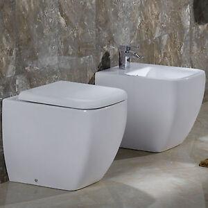 sanitari filo parete bagno a terra design moderno in