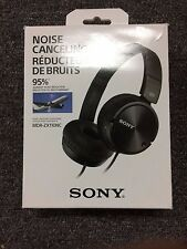 SONY MDR-ZX110NC NOISE CANCELLING HEADPHONES MDRZX110NC - BLACK - EXCELLENT