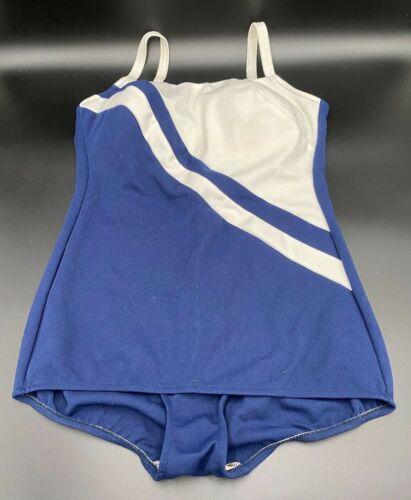 Vintage 70's 80's Robby Len White Blue Stripe Swim