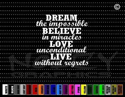HOPE Vinyl Decal Sticker Window Car JDM Inspirational Quote Disney