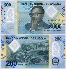 ANGOLA 200 KWANZAS 2020 P NEW POLYMER UNC LOT 3 PCS NR
