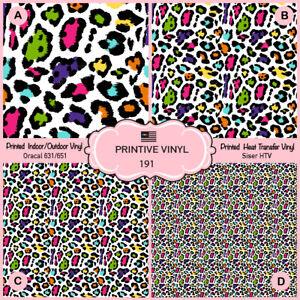 Siser HTV Leopard Patterned Iron on Oracal Adhesive Vinyl 817 Printed HTV
