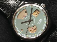 "SWATCH RARITY the first AUTOMATIC 1991 ""BLACK MOTION"" SAB100 NEW low shipping"