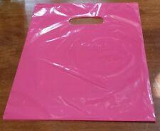 50 PINK 9 x 12 PLASTIC MERCHANDISE SHOPPING BAGS