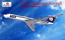 Tupolev Tu-134 un avión soviético (Polish Airlines Lote marcas) 1/72 Amodel