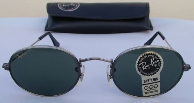 New Vintage B&L Ray Ban Classic Collection Style 1 Oval Antique Pewter W1283 NOS