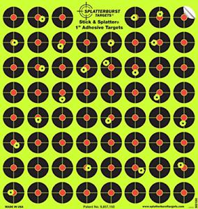Splatterburst Targets 10 Pack 2.54 cm Stick /& éclaboussures Autocollante Réactif