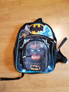 LEGO BATMAN DC Lead Safe Dual Chamber Insulated Lunch Tote Bag Box w// Cape NWT