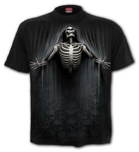 SPIRAL-DIRECT-LIBERATED-T-Shirt-Biker-Grim-Reaper-Skull-Goth-Top-Tee-Death-Soul
