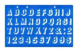 20mm Shadow 3d Font Upper Case Alphabet Letters Number Stencil