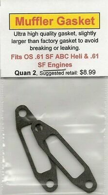 Aftermarket Exhaust//Muffler Gasket 2 Pack Fits Webra .61 Silverline NIP