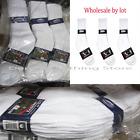 5~100 Dozens Wholesale Lots Knocker Men Solid Sports Cotton Crew Socks White